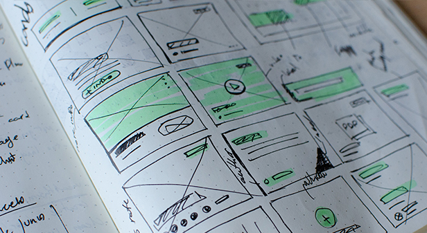 image of wireframe for websites