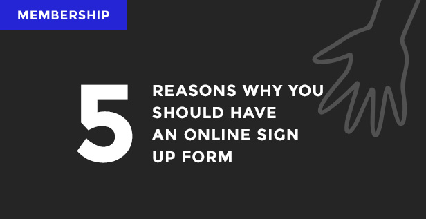 Sign up online membership image