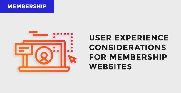 membership website user experience